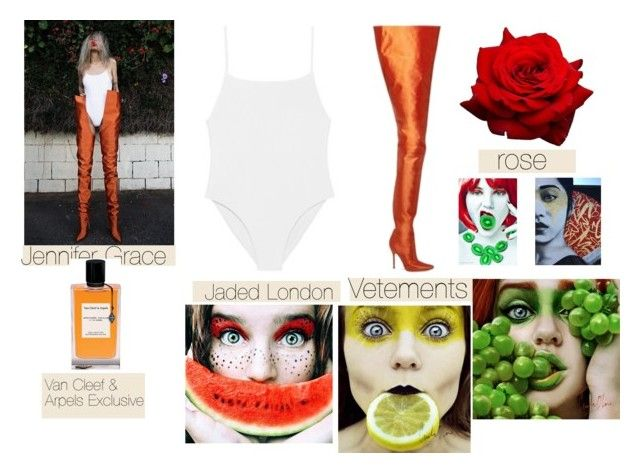 """Jennifer Grace - Models outside"" by ketrin-maknamara ❤ liked on Polyvore featuring Van Cleef & Arpels"