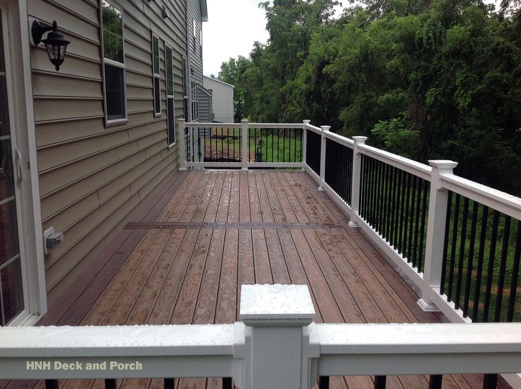 68 best images about hnh low maintenance wood decks on for Vinyl decking material