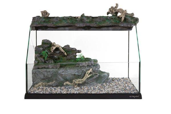 Tartarughiere e acquaterrari per tartarughe acquatiche complete di filtro e riscaldatore. Dimensioni: 30cm, 40cm, 50cm, 60cm e oltre.