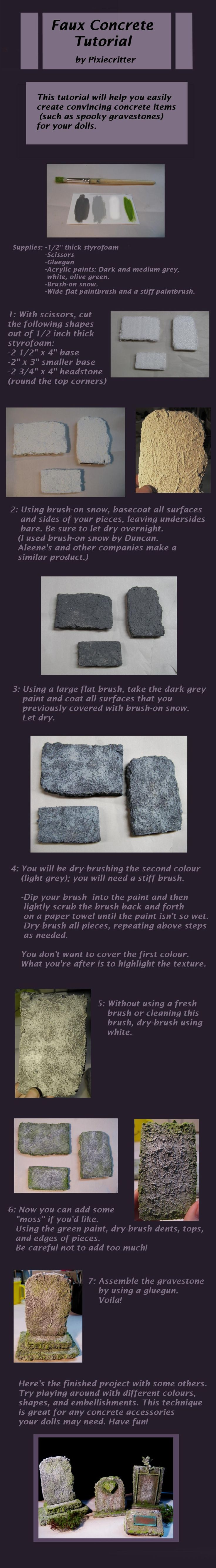 Gravestone Tutorial by Pixiecritter on deviantART.  Cool tutorial. I don't think these would last very long seeing as how they're made of styrofoam, but I could see making these as great Halloween decorations or something.