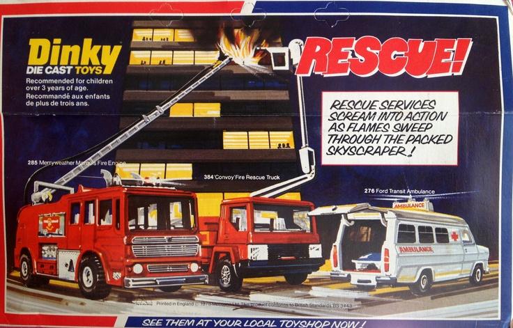 Dinky die cast E.R.F Fire Tender 1978