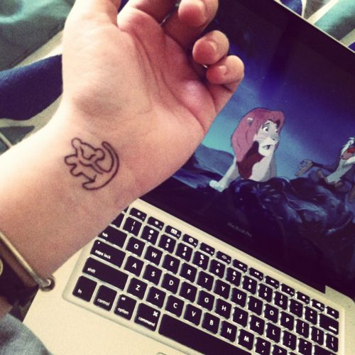 disney tattoo... Like this... Maybe something like this for my next tattoo... My name meaning little lion