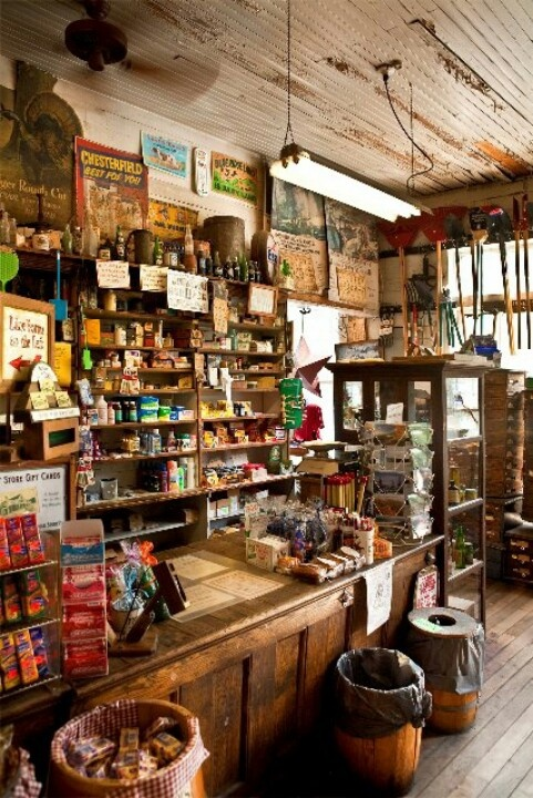 Country store. What a fun looking place to buy a Coke and bag of peanuts!