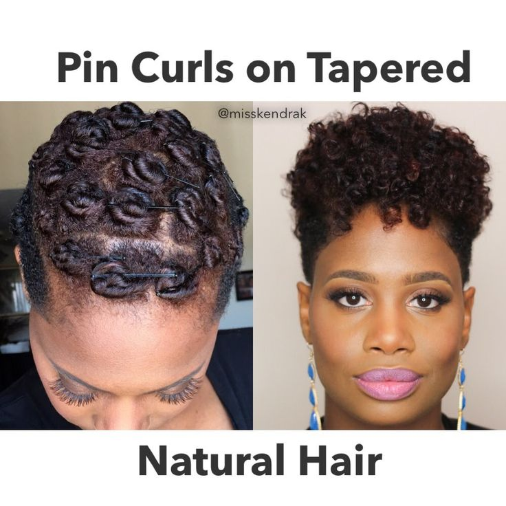 How To Pin Curls On Tapered TWA Video Natural