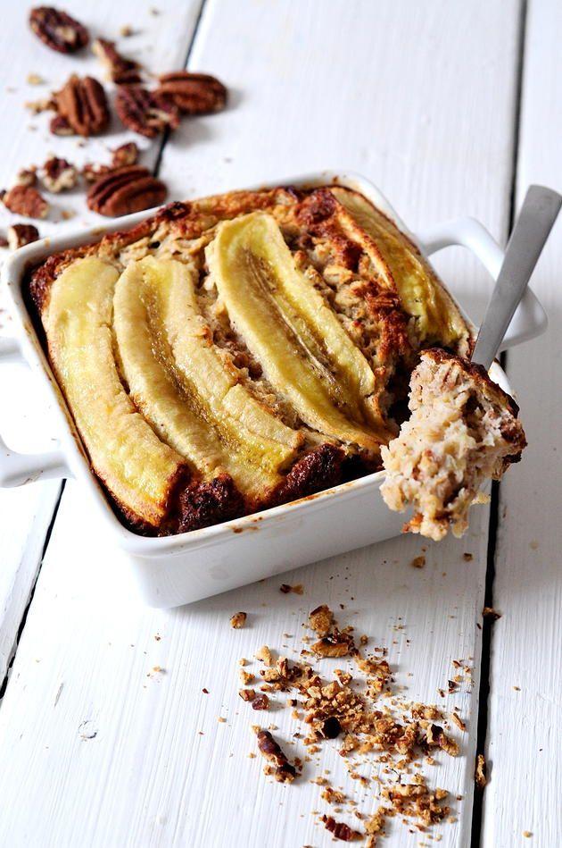 Banane - Noix de pécan - Figues et flocons d'avoine