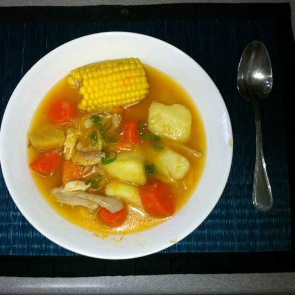 Venezuelan chicken soup: my go-to recipe for when I'm feeling poorly - handed down from my 'abuela' to my mother, to me....