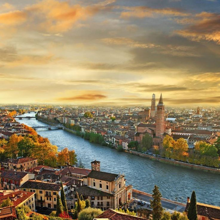 Nice view of Verona and the Adige