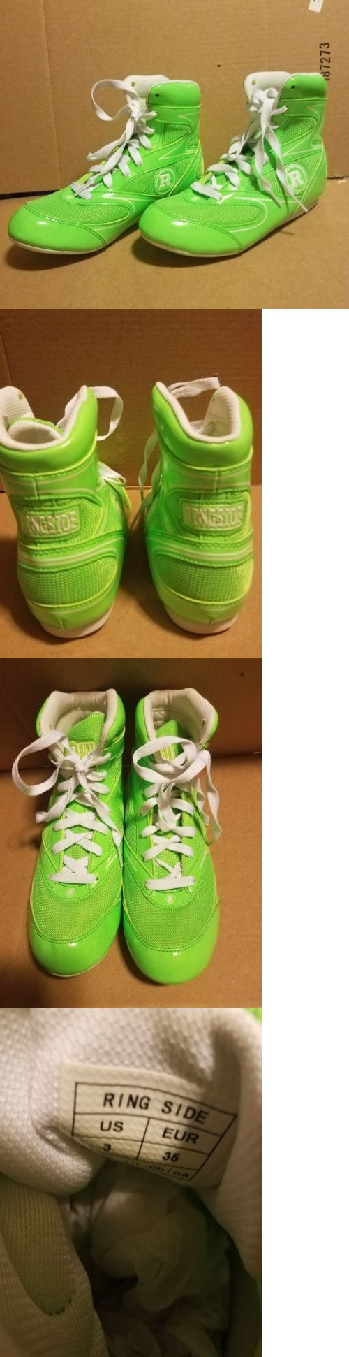 Shoes and Footwear 73989: Ringside Lo-Top Diablo Boxing Shoes - Neon Green Youth Size 3 -> BUY IT NOW ONLY: $30 on eBay!
