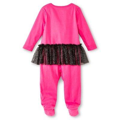 Bat Girl Newborn Girls' Coveralls with Tutu - Pink 6-9 M