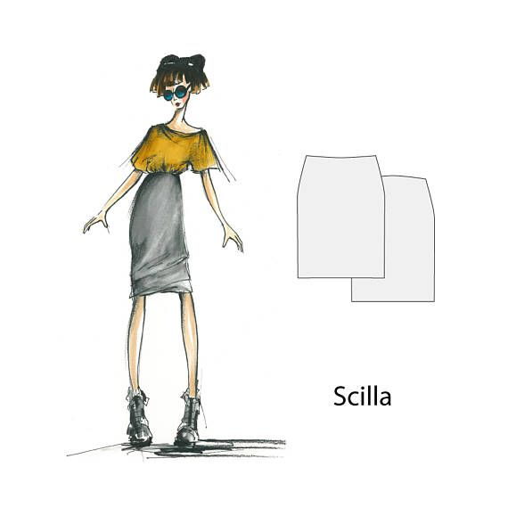 Scilla skirt sizes 8 16 sewing pattern sewing patterns for