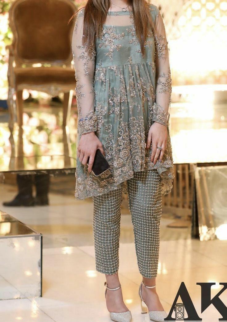 Party Wear Dress 2021 In 2021 Stylish Short Dresses Party Wear Dresses Sleeves Designs For Dresses
