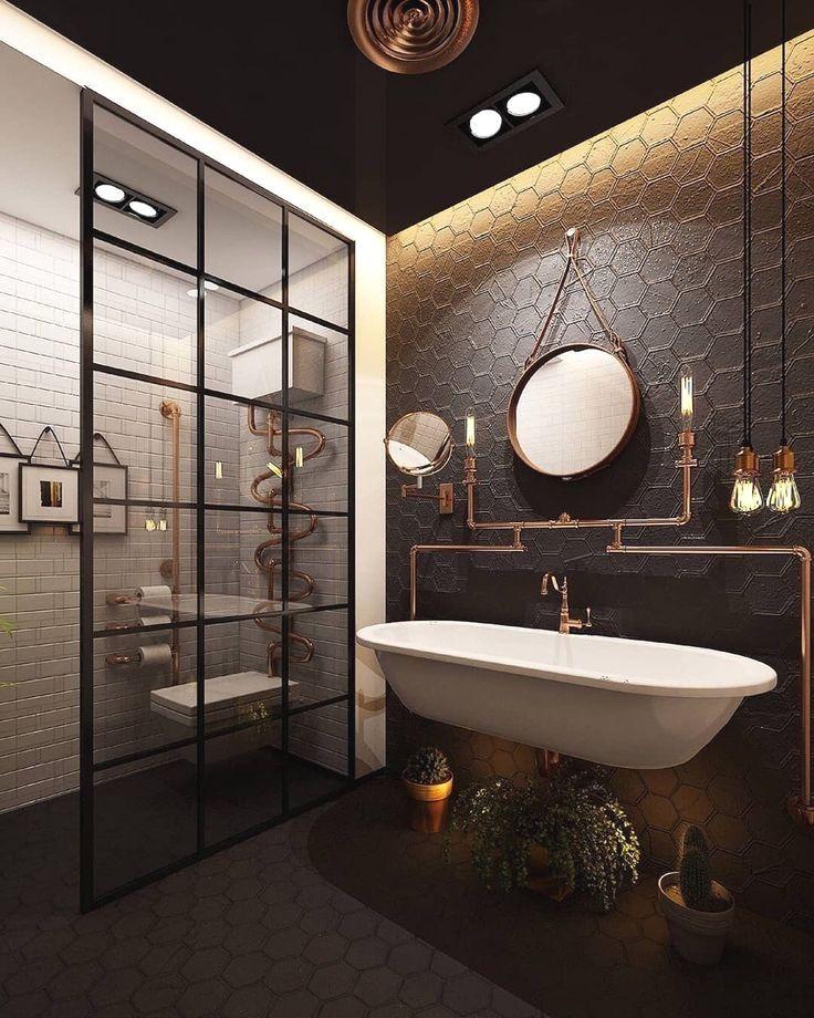 Bathroom Inspiration Loft Industrial Journal Pursue Your Dreams Of The Perfect Diseno De Interiores Industrial Banos De Lujo Estilo Industrial Decoracion