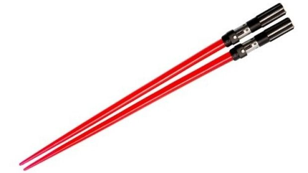 Lightsaber chopsticks. From  '10 Ways To Star Wars Up Your Kitchen' on goodfood.com.au.