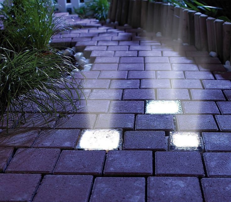 Signstek 70*70*50MM 0.2W 4 LED Waterproof Solar Power Rechargeable Path Garden Glass Brick Paver Light *White* - - Amazon.com