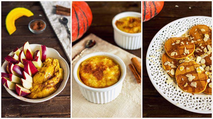 3 idee per la colazione, ma anche la merenda, invernale! Tutte le ricette sono a base di zucca, vegan e davvero buonissime e facili da fare!!! La zucca che v...