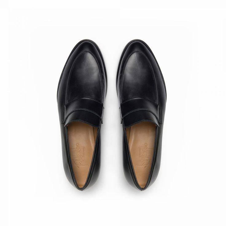Flattered | Daria - Black Nappa Loafer