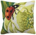 Ladybird Cushion Front Chunky Cross Stitch Kit