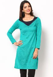 Jet from casual to conservative & vice-versa with ease as you wear this green coloured kurta from the house of W. The regular-fit kurta is made from acrylic, which ensures complete comfort and breathability to the wearer. Pair it with matching leggings and sandals to get complimented for your classy choice.