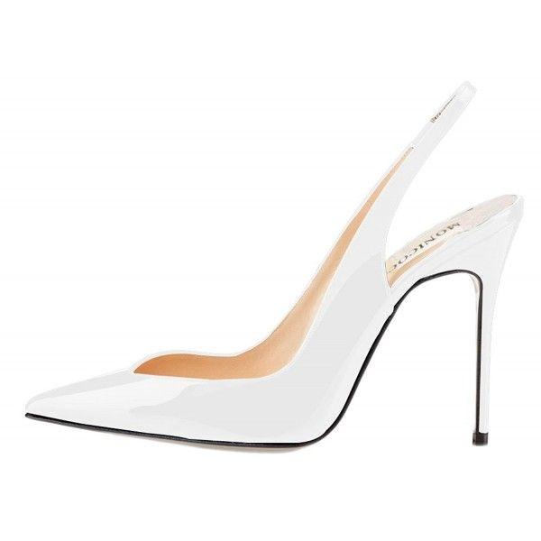 Women's Elastic Slingback Heels Pumps