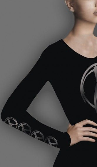 Glitter Pewter Peace Warrior Black long sleeve tee
