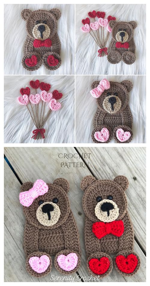 Blanket with a Bear Applique Free Crochet Patterns | 950x500