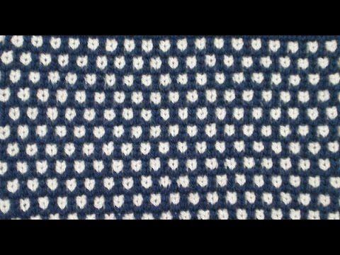 """Цветной узор """"Мелкая шахматка"""" на вязальной машине Нева-2 - YouTube"""