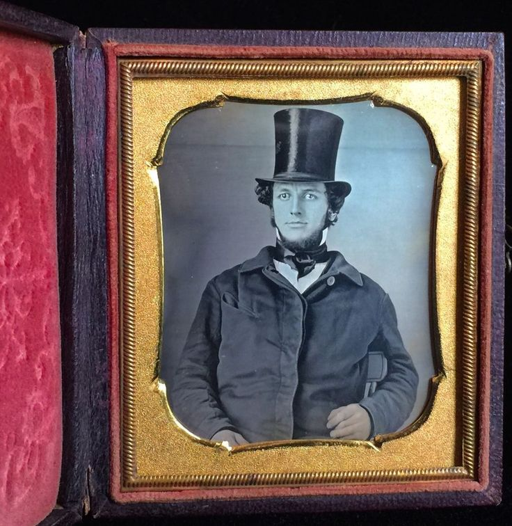 1/6 plate daguerreotype- amazing quality - top hat man - is that jeff goldblum?