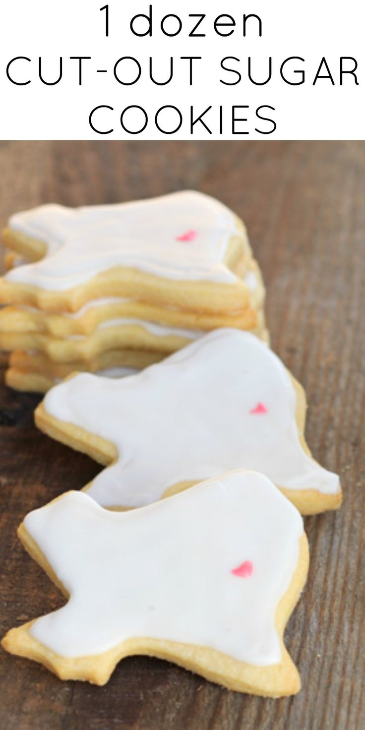 A small batch of your favorite cut-out sugar cookies. Maybe I'm biased, but I think the Texas cookie shape is the best shape ever.