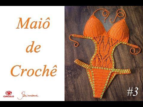 Maiô de Crochê Body parte 3 - Simone Eleotério - YouTube