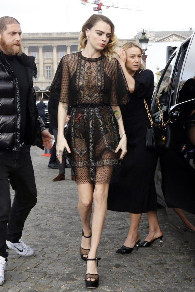 Cara Delevingne S Street Style At Paris Fashion Week In 2020 Cara Delevingne Style Fashion Celebrity Street Style