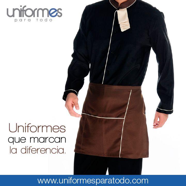 Combinamos texturas y colores para hacer prendas únicas. ¿Cómo quieres tu uniforme? #UniformesParaTodo #Delantal #Estilo #Cocina