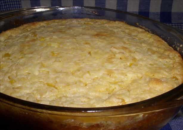 """Southern Jiffy Corn Pudding from Food.com:   We always make this at Thanksgiving! This is NOT the """"souffle"""" type corn pudding that most people make. I am a CORN fanatic, so I love this recipe. Is great for Thanksgiving, but is easy enough to make for an everyday meal."""