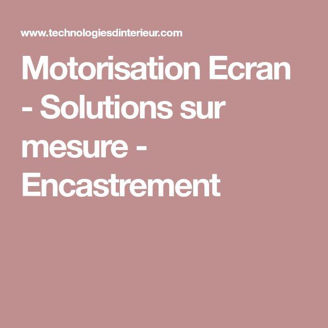Motorisation Ecran - Solutions sur mesure - Encastrement