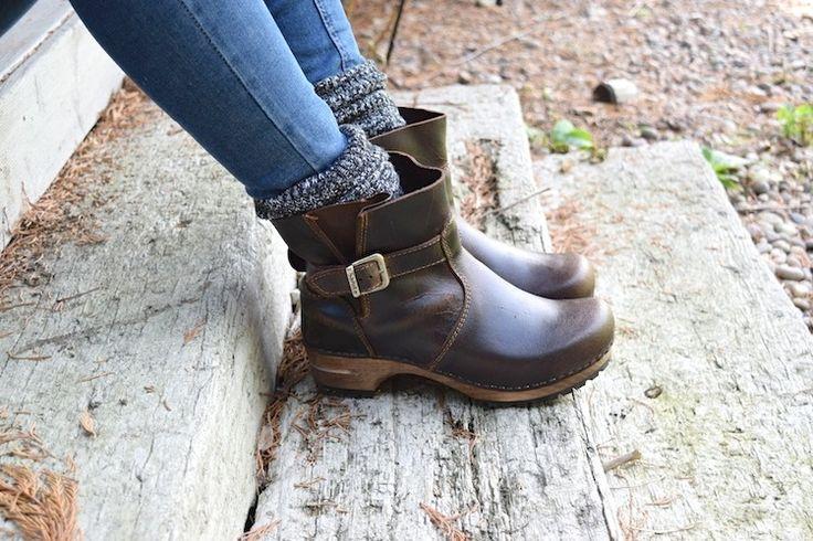 Sanita Mina Dark Brown Clog Boots available at Lotta From Stockholm
