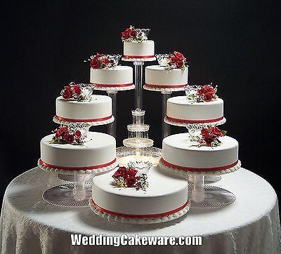8 TIER CASCADE WEDDING CAKE STAND STANDS SET in Casa y jardín, Suministros para soldadura, Bases y platos para pastel de bodas | eBay