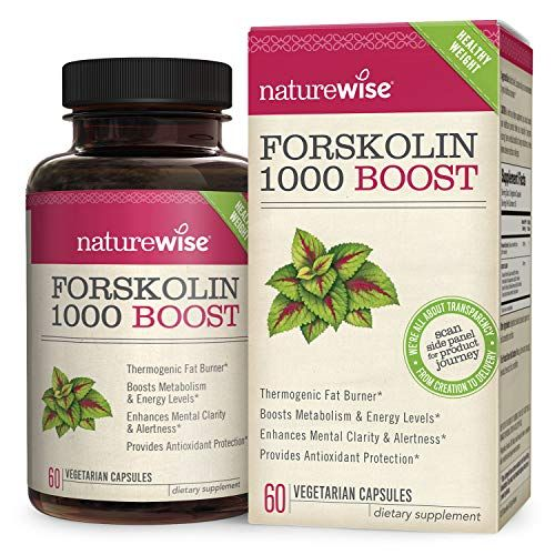 Naturewise Premium Forskolin 1000 Boost Highest Concentration Pure