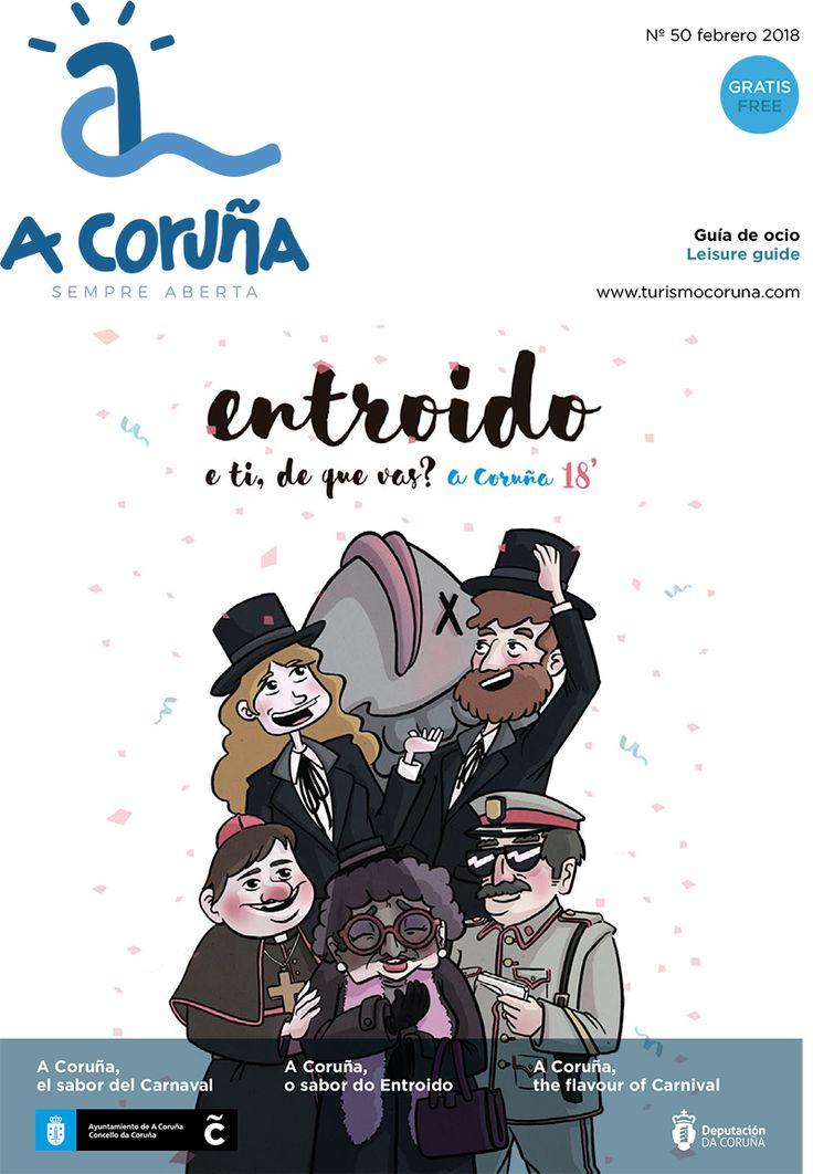 Disponible la guía de ocio del mes de febrero! El #Carnaval y #LacónicasCoruña serán los grandes protagonistas de este mes! #visitacoruña #saboreacoruña #SempreAberta  Descarga la guía 👉 bit.ly/guia-50-coruna