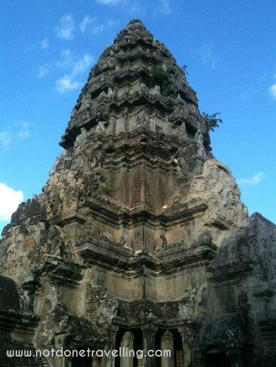 The very top of Angkor Wat, Cambodia