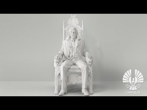 """The first teaser for The Hunger Games: Mockingjay — Part 1 was released today in the form of a speech given by President Snow (Donald Sutherland) to the citizens of Panem. 