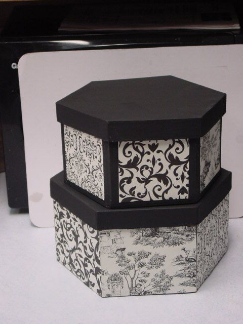 paper mache box decorated