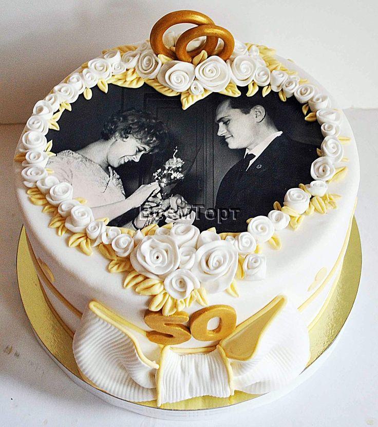 Торты с фото свадебние