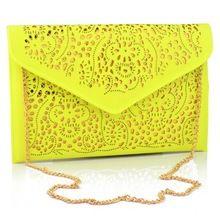 Vintage National Women's Trend Handbag Cutout Envelope Bag Shoulder Crossbody Bag Clutch evening Bag