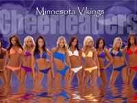 Minnesota Vikings   Cheerleader Wallpaper