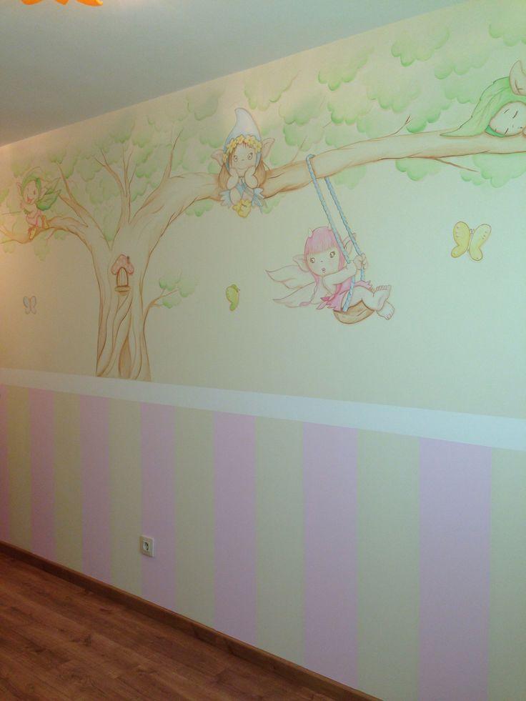 117 mejores im genes sobre murales infantiles en pinterest for Murales infantiles nina