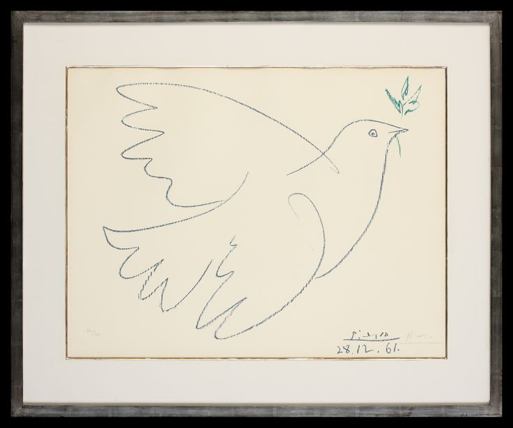 Pablo Picasso | Grande Colombe Bleu | Limited Edition Signed Lithograph | 20 x 18 inches