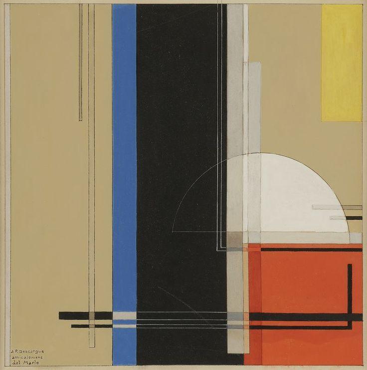 thunderstruck9:  Félix Del Marle (French, 1889-1952), Composition, 1949. Gouache, 27 x 27.5 cm.
