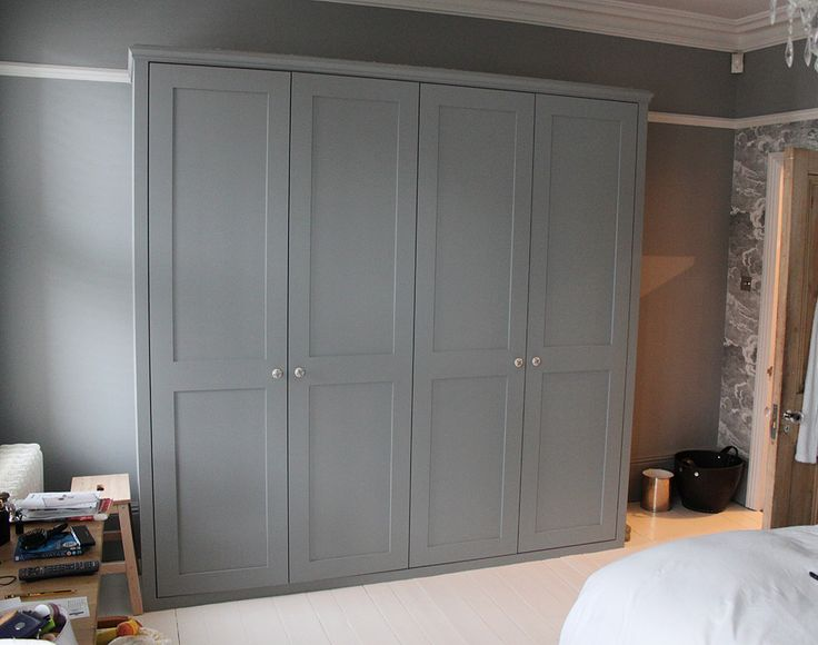 Fitted wardrobe with shaker doors