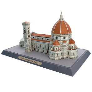 3D paper model, free to print!  Florence Cathedral, Italy.  Beautiful paper craft printable.