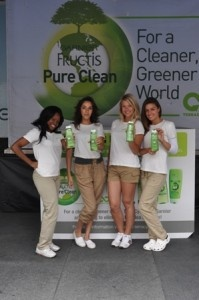 Garnier left a green footprint in Toronto to promote its line of Pure Clean hair and beauty products.