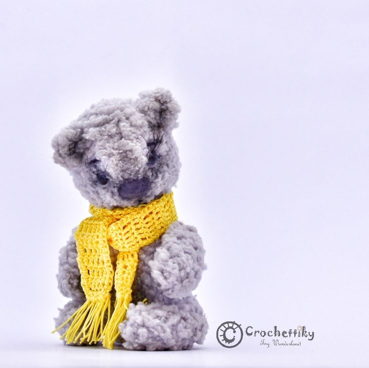 Crochettiky Bear Ruo   Small grey bear Ruo is looking for a new home. He loves traveling and ready to join your trip. Being small (only 9cm high), he can fit any pocket, so will always be with you.  Yarn: soft plush, cotton for scarf.  Size: approx 9cm high. Fill: non-allergenic, polyester fiberfill.  Glass eyes.  Wire frame for paws.  Head and paws on split-pins.  Colored with pastel. $25  #crochetaddict #craft #handmadebyme #амигуруми #вязание #mydesign #örgü #ganchillo #あみぐるみ #かぎ針編み…